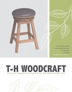 E&g amish furniture t-h woodcraft barstools catalog