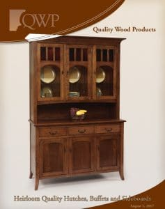 E&g amish furniture quality wood products dish cabinets catalog