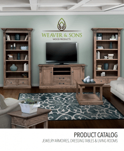E&G Amish Furniture Weaver and sons wood products 2018 catalog