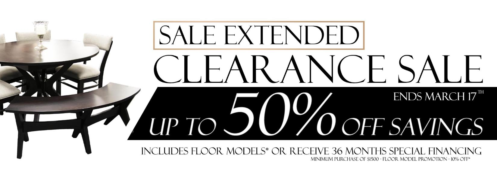 Clearance Web Banner Extended