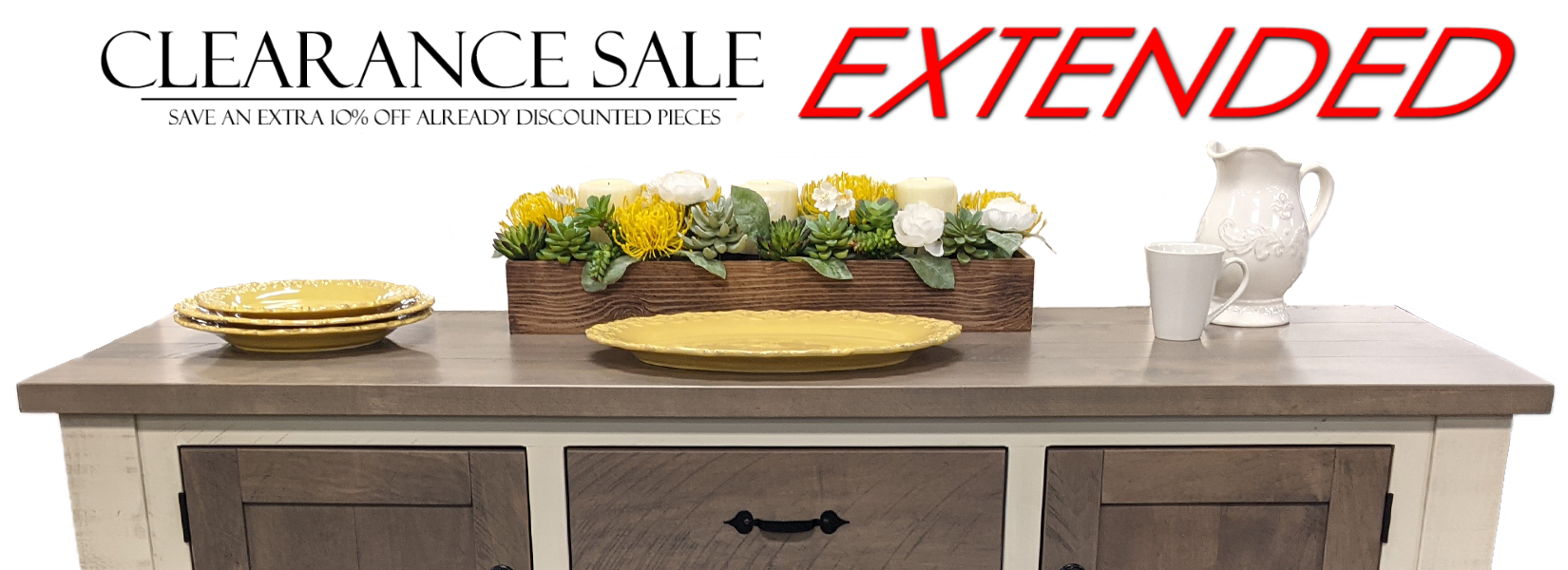 Extended Clearance Page Banner
