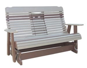 Hcbgs6000 Five Foot High Curve Back Settee Glider