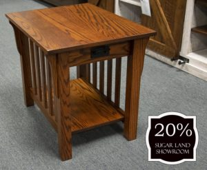 25 85 Mission Collection End Table 20 Percent Off Sugar Land Location