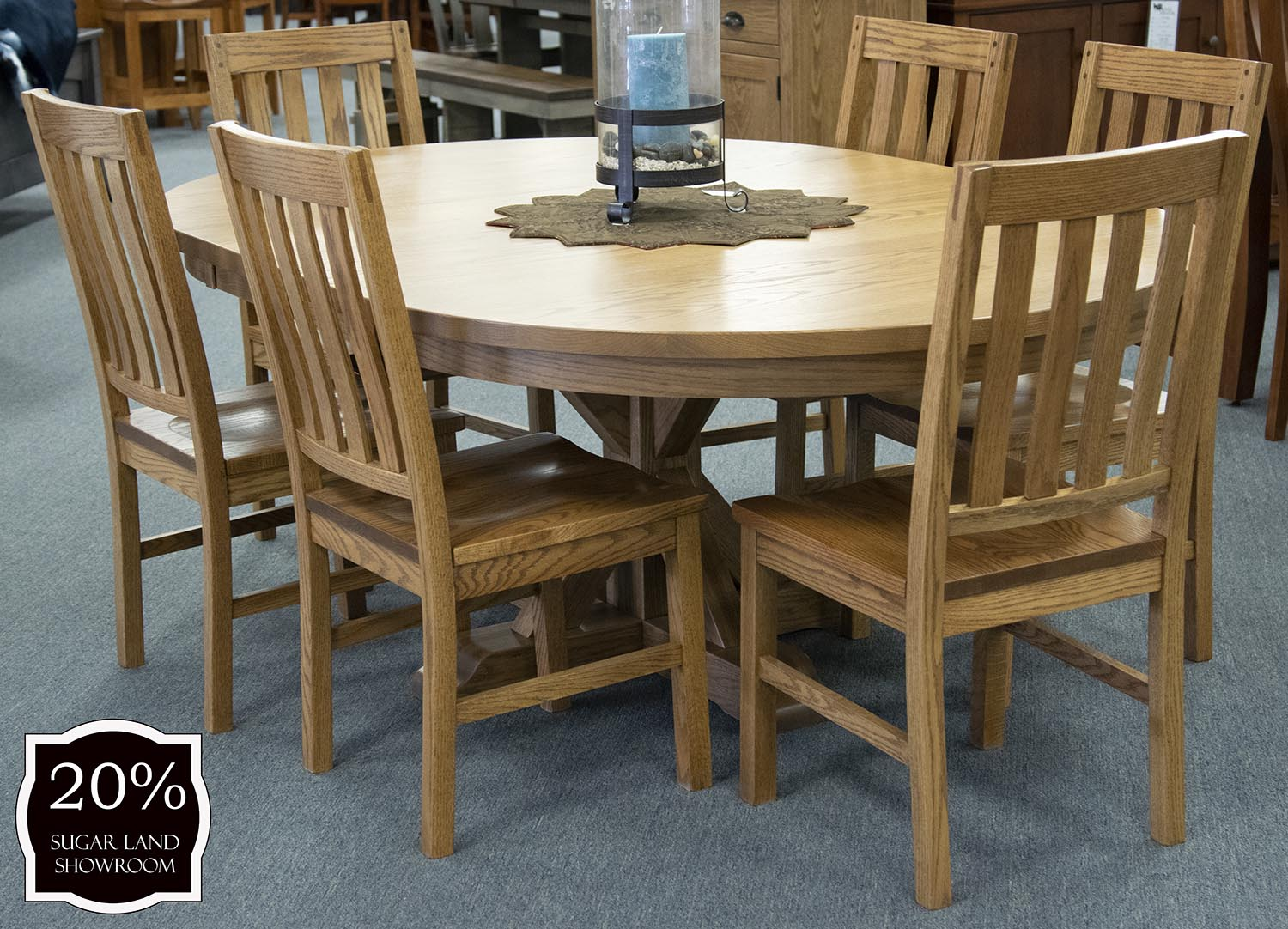 Swell Alberta Pedestal Table And Chairs Set 6 Side Chairs Cjindustries Chair Design For Home Cjindustriesco