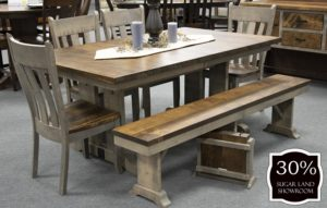 38 Wakefield Trestle Table And Chair (set) 30 Percent Off Sugar Land Location