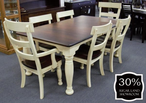 40 Belleville Leg Table And Chairs (set) 30 Percent Off Sugar Land Location