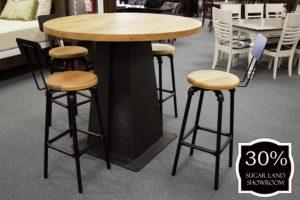 45 Rustic Pub Table With Pipe Fitting Swivel Stools 30 Percent Off Sugar Land Location