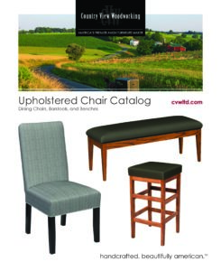 2019 Country View Woodworking Upholstered Chair Catalog P1