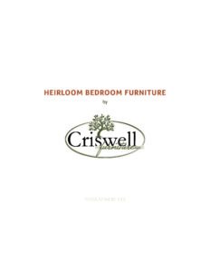 2019 Criswell Furniture Bedroom Catalog P1