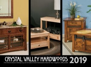 2019 Crystal Valley Hardwoods Bookcases Catalog P1
