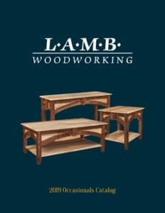 2019 Lamb Woodworking Occasionals Catalog P1