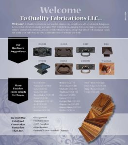 2019 Quality Fabrications Occasionals Catalog P1