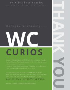 2019 Wc Curios Product Catalog P1