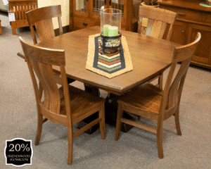 21 Saratoga Single Pedestal Table And Chairs (set) 20 Percent Off Friendswood Location