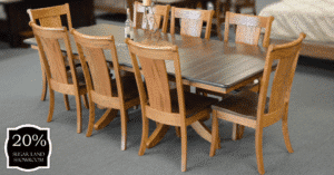 4 Classic Shaker Double Pedestal Table And Chairs (set) 20 Percent Off Sugar Lnad Location