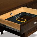 Double USB Port Charging Station - Inside Pencil Drawer