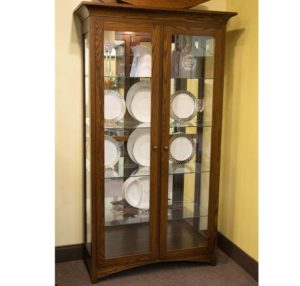205 Large Mission Double Door Curio