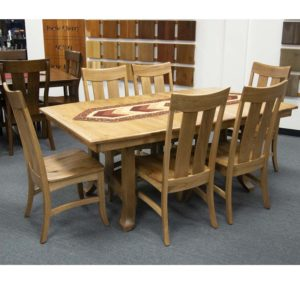 Custom Bl4272 2l Biltright Trestle Table With Bl 132 5 Biltright Side Chairs