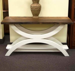 Gustom Gateway Collection Sofa Table With Reclaimed Barnwood Top