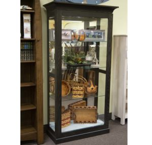 Large Picture Frame Curio With Sliding Door