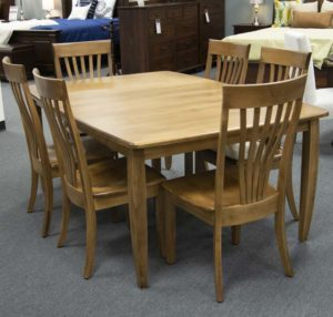 Nv4875 4l Nashville Leg Table With Nv444 A Nashville Side Chairs