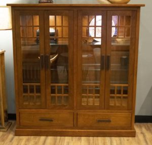 Parker Collection 4 Door And 2 Drawer Curio