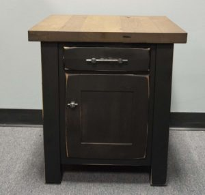 Reclaimed Barwood End Table With Door