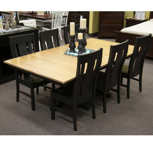 Ridgecrest Double Pedestal Table With Gurnee Side Chairs