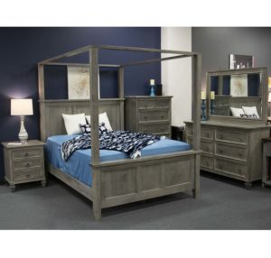 Savannah Bedroom Collection Queen Size Canopy Bed