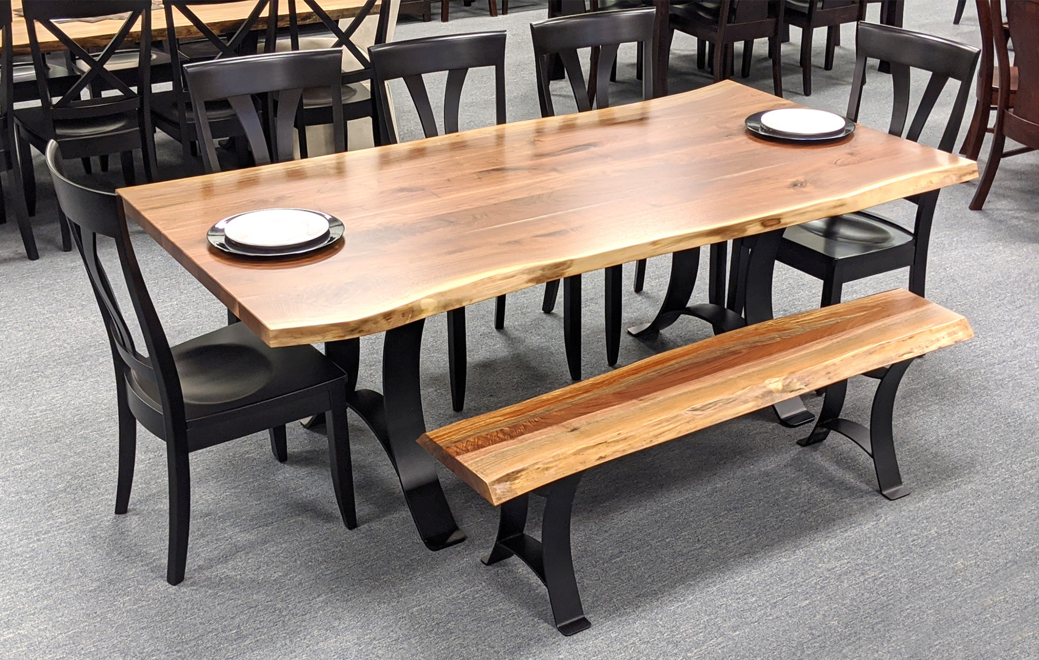 Astoria Live Edge Table With Bench 2100 X 1333