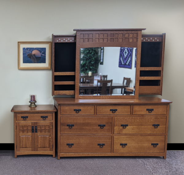 Royal Santa Fe Dresser, Mirror, & 2 Nightstands