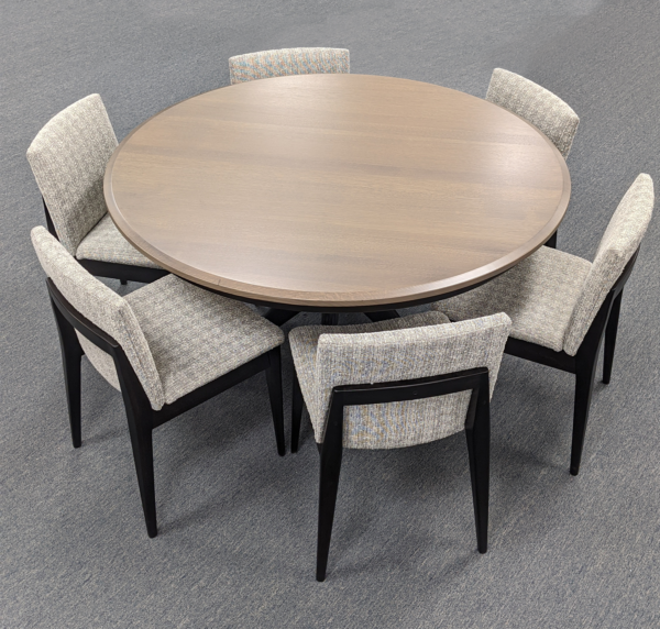 West Newton Pedestal Table With Chairs