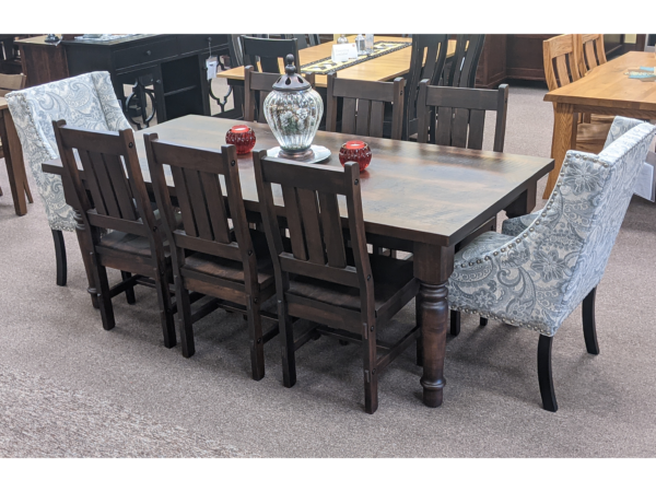 Tennessee Turned Leg Table With Timber Side Chair Original Price $6,351.00 15% Off Clearance $5,398.00