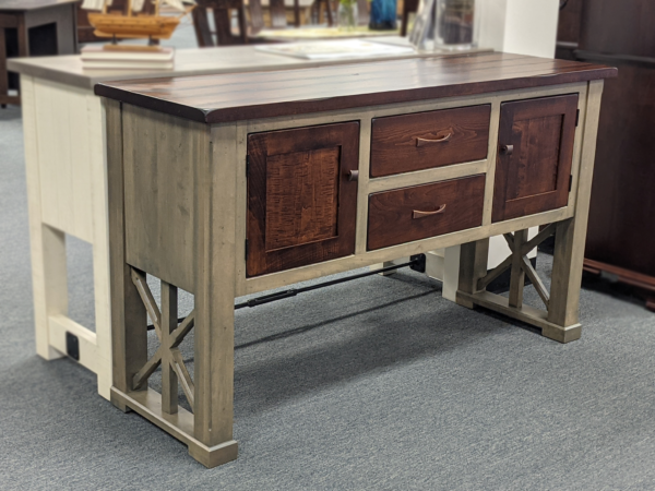Warwick Server Original Price $1,959.00 15% Off Clearance Price $1,665.15 Brown Maple Stain Moral Grey Top Ocs 117 Asbury