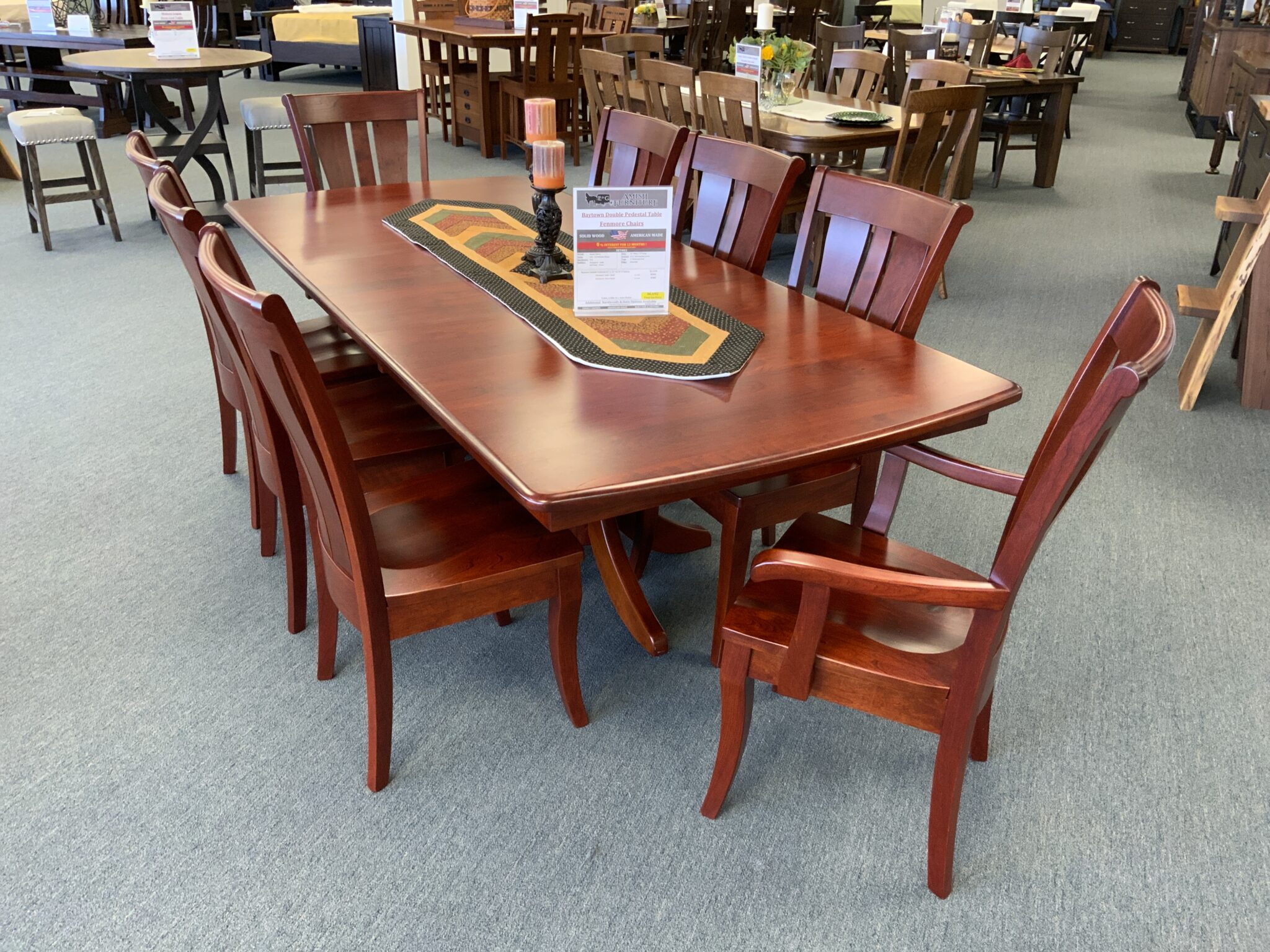 Baytown Double Pedestal Table & Fenmore Chairs