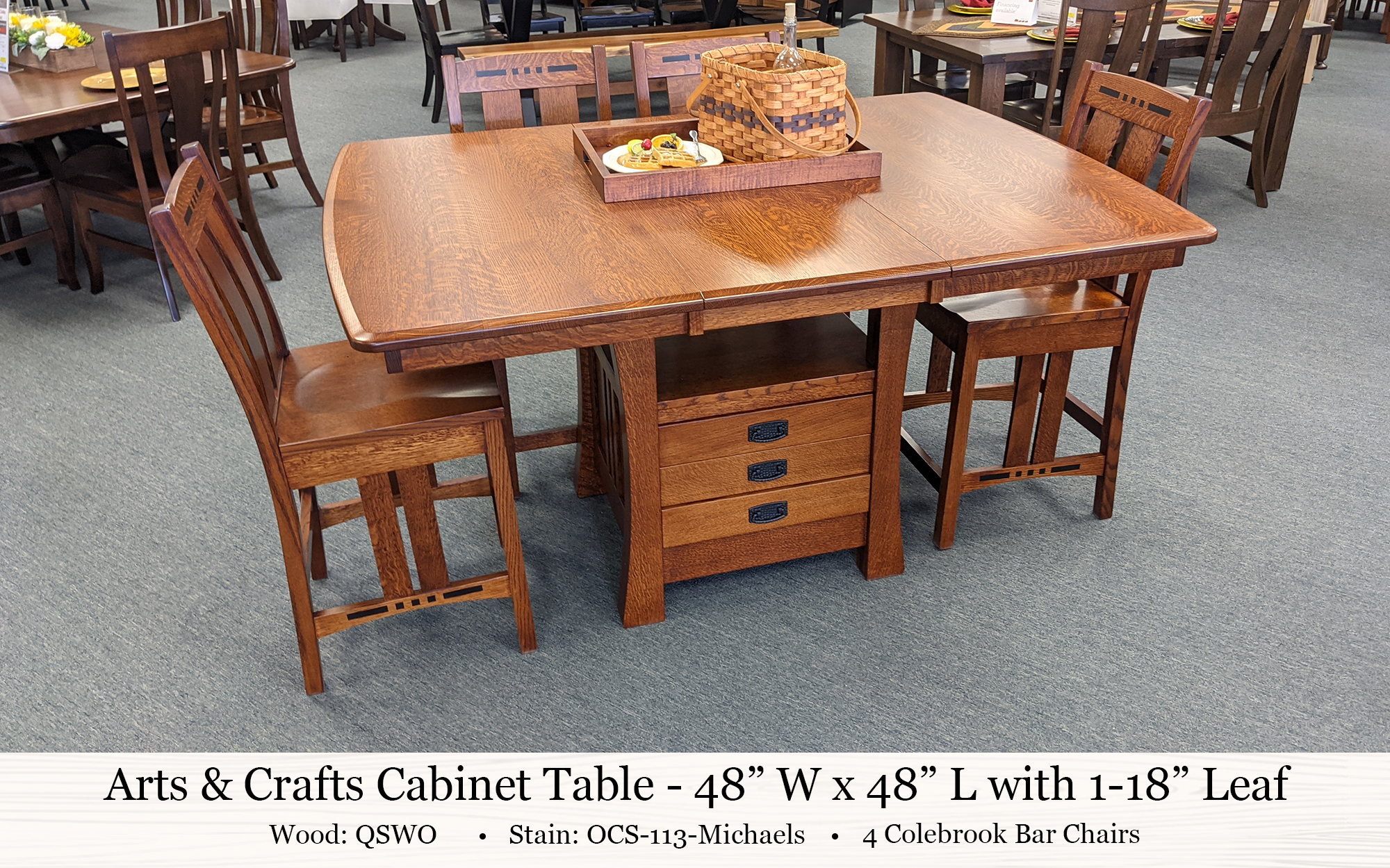 Arts And Crafts Cabinet Table Colebrook Bar Chair