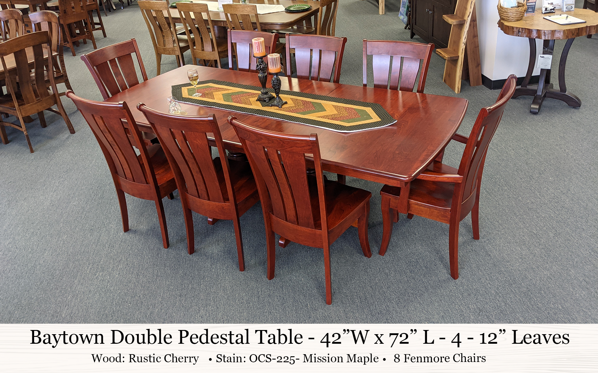 Baytown Double Pedestal Table With Fenmore Chairs