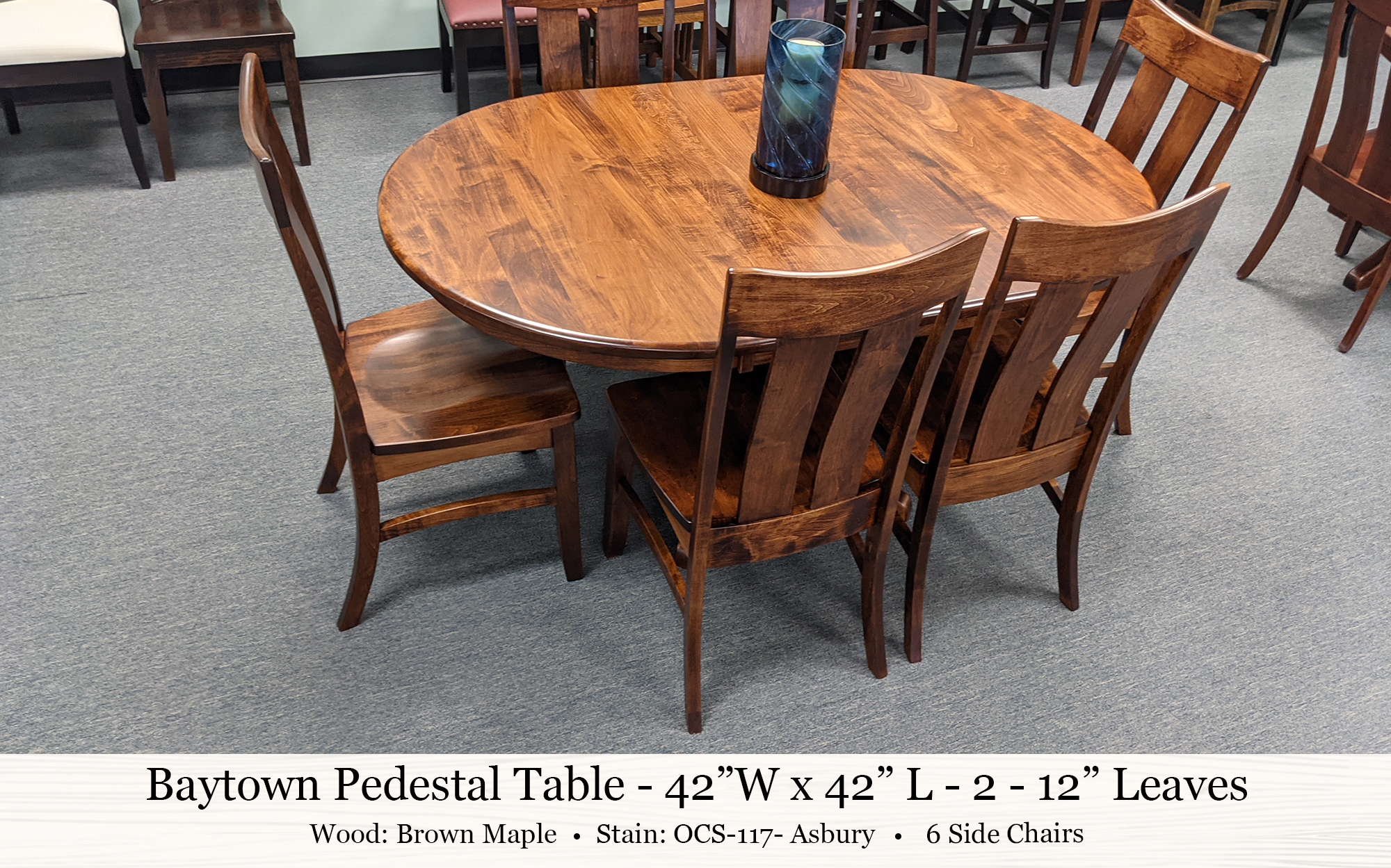 Baytown Pedestal Table Galena Side Chairs